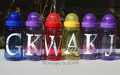birthday party favor idea - personalized water bottles