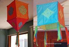 Tinker and Cook: Traditional Indian Paper Lanterns with a difference. I might use this as a guide to making some lanterns. I used to have a page torn from a magazine that showed how to make paper/fabric lanterns using a small, wooden frame. This is similar. RM