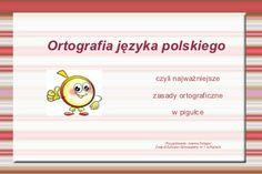 Ortografia Montessori, Toy Chest, Storage Chest, Education, Diy, Speech Language Therapy, Therapy, Polish, Places