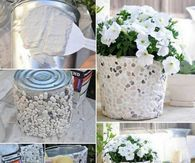 How To Make A Rock Covered Bucket Planter