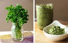 Kale Stem and Parsley Pesto