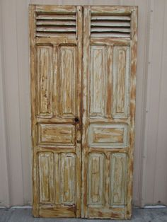 Details about Antique Pair Mexican Old-Vintage-Primitive-Rustic-42x86-Barn Doors-White-Tall & Details about Antique Pair Mexican Old-Vintage-Primitive-Rustic ...
