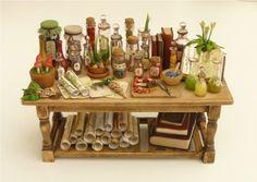 Amazing dollhouse miniature table by Nikkinikkinikki72 on Etsy