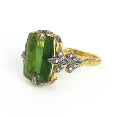 Cathy Waterman Green Tourmaline Ring