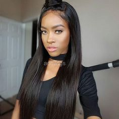 Brazilian Human Hair Lace Front Wigs Silk Straight Full Lace Human Hair Wigs for black women Glueless Full Lace Wigs 100 Human Hair Wigs, Short Hair Wigs, Wig Hairstyles, Straight Hairstyles, Silk Base Wig, Bob Lace Front Wigs, Front Lace, Natural Hair Styles For Black Women, Star Wars