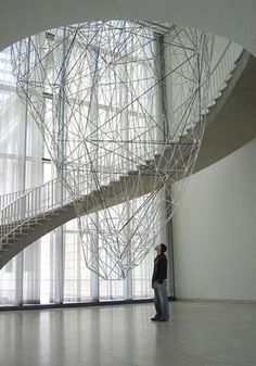 "00145.jpg  ""Iceburg"", 2004 (stainless steel and aluminum with sound) by Iñigo Manglano-Ovalle."
