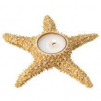 Gold Starfish Tea Light Holder