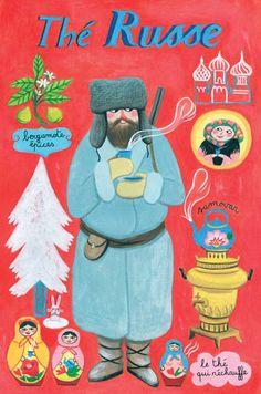 By Anne Laval, 2010, Postcard: Russian tea.