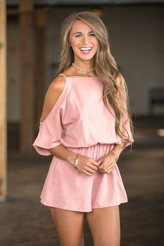 Back By Midnight Romper Mauve - The Pink Lily