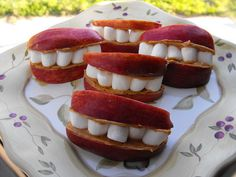 Halloween, April Fools or Healthy Fun Snack Idea - maybe even for a lesson on hygiene.