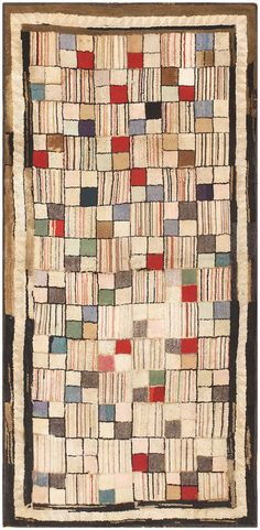 Antique American Hooked Rug 2623