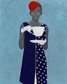 The Obamas and the Inauguration of Black Painting's New Golden Age In America. Pictured: Amy Sherald's Miss Everything.