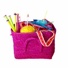 Great basket for yarn and knitting needles My Girl, Picnic, Basket, Girls, Nice Asses, Toddler Girls, Daughters, Maids, Picnics