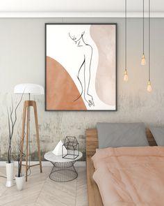 Abstract Body Line Art Print, Nude Woman Body Line Drawing, Minimalist Neutral Colors Printable Wall Art, Earth Tones Female Body Boho Decor Boho Decor, Art Decor, Creation Deco, Abstract Line Art, Natural Home Decor, Minimalist Art, Minimalist Bedroom, Modern Decor, Modern Boho