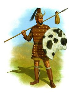Possible costume for the watchman, minus the shield and weird helmet. The messengers can be decked similarly. Old Warrior, Greek Warrior, Mycenaean, Minoan, Ancient Troy, Prehistoric Age, Greek Antiquity, Trojan War, Medieval Armor