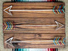String art arrow art aztec tribal wood by NailedItCustomCrafts