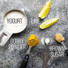 curry yogurt marinade text