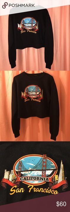 NWOT cropped San Francisco sweater Brand new never worn or washed Brandy Melville Sweaters