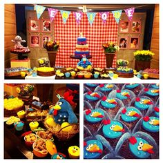 The 'Galinha Pintadinha' became very popular as a kid character and it was the theme for this cool birthday party