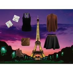 """night walk in Paris"" by panorina on Polyvore"