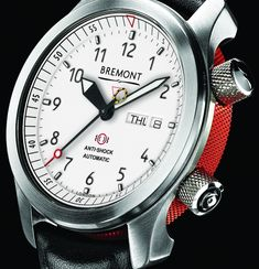 """New Bremont MBII-WH Watch With White Dial - by James Stacey - check it out on aBlogtoWatch.com """"Along with the new ALT1-ZT/51 watch, British Bremont has announced another update to their lineup, with a new dial option for their bestselling MBII model. The new Bremont MBII-WH sports a crisp white dial with black markers and hands, offering a recognizable but entirely different look and feel for this well-known, aviation-inspired design..."""""""