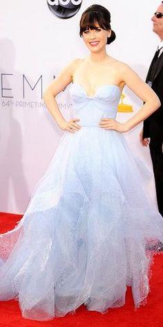 Zooey Deschanel, Emmys 2012 Red Carpet