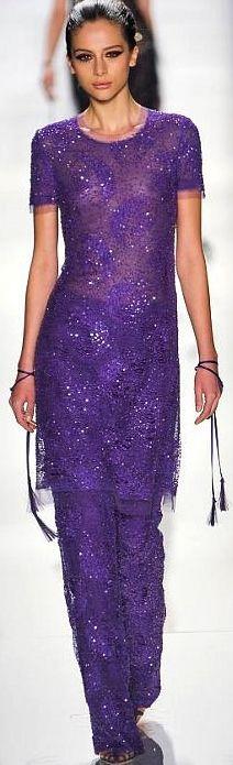 Purple:  #Purple gown, Chado Ralph Rucci.