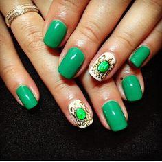 Beautiful nails 2016, Beautiful summer nails, Bow nails, Bright summer nails, Cool nails, Emerald nails, Evening dress nails, Gentle summer nails