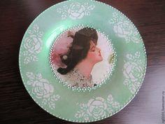 Купить Тарелка декоративная - салатовый, интерьерная композиция, декор для интерьера, Тарелка декоративная, тарелка сувенирная