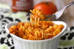 Baked pasta with Sriracha cream sauce #recipe