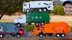Colorful Trash Trucks Picking Up Garbage l Garbage Trucks Rule l Garbage...