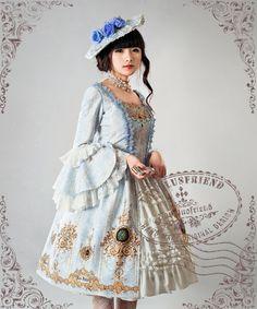 Ten O'Clock Cinderella, Rococo Lolita Elegant Gothic Square Neckline Ball Dress*FREE EXPRESS SHIPPING by Fanplusfriend on Etsy https://www.etsy.com/listing/202158390/ten-oclock-cinderella-rococo-lolita