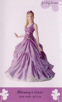 RP: Royal Doulton Flower of the Month - FEBRUARY * VIOLET