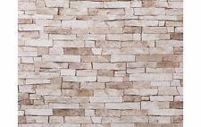 1 Rolle Rasch Tapete Papier Stein beige Küche / Wohnzimmer /Diele /Schlafzimmer