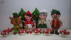 ♥♥♥ Turma do Capuchinho Vermelho... by sweetfelt  ideias em feltro, via Flickr