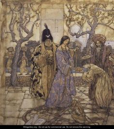 They Harvested for Ahmeds Princely Hand, 1917  by Arthur Rackham