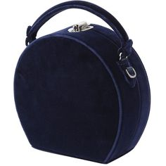 Bertoni 1949 Women Bertoncina Velvet Top Handle Bag ($1,255) ❤ liked on Polyvore featuring bags, handbags, blue, lock bag, velvet handbags, blue handbags, handle bag and velvet purse