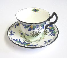 Vintage Art Deco Teacup and Saucer Royal Doulton £17.50