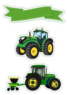 Tractor Birthday, Baby Boy Birthday, Farm Birthday, Luau Theme Party, Farm Cake, Bear Valentines, Cute Frames, Fathers Day Crafts, Birthday Cake Toppers