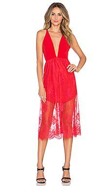 NBD Falling In Love Dress in Red