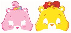 Care Bears Happy Day Happy Day Masks|Fast Shipping|6 per package