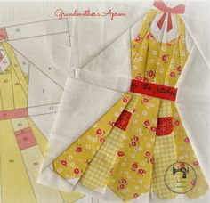 Charise Creates: Grandmother's Apron - paper pieced