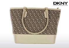 DKNY γυναικεία τσάντα με δερμάτινα τελειώματα σε 2 χρώματα!  a6ed24b6208