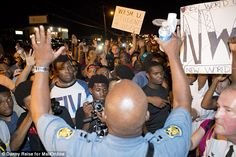 Demonstrations: Brown's death sparked protests and vigils in Ferguson, where riot police o...