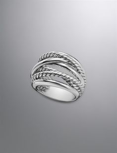Crossover Ring | Women Rings | David Yurman Official Store...oh i love this style! I have this almost exact style ring except instead of a rope, it's braided with diamonds!