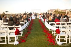 Revere- simple wedding arch idea; simple and pretty; different color though