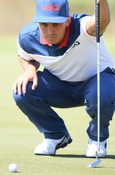 USA's Rickie Fowler competes in the men's individual stroke play at the Olympic…