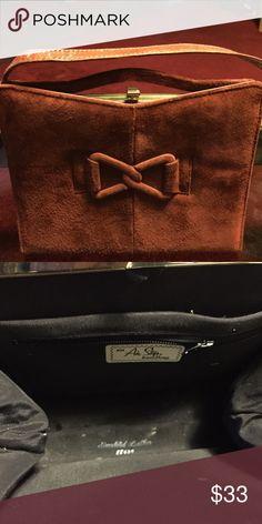 Vintage Air step Suede Hand bag Vintage Air Step Suede Hand bag, burnt orange/red. Great condition. Bags Mini Bags