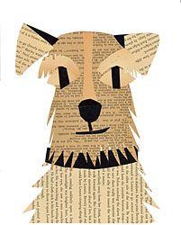 terrier mug paste collage