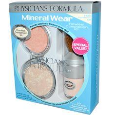 Have this, love it! #facepowder #blush #mineralveil http://www.iherb.com/physician-s-formula-inc-mineral-wear-fair-complexion-kit/42262?rcode=lef913